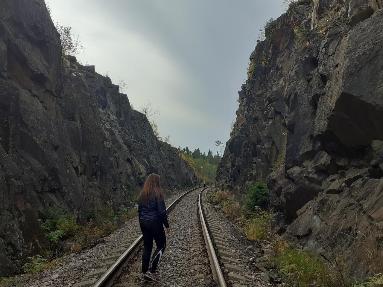 Осенняя Карелия. Река Асиланйоки, город Сортавала и гранитный каньон Импилахти