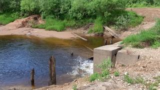 Новый мостовой переход через речку Сельменьга в Виноградовском районе.Национальный проект.