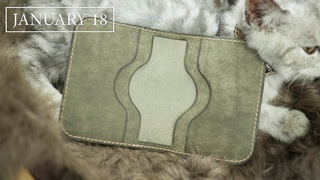 Leather Handmade EP10  Making a Pueblo Tiny Card Wallet - Edge Burnish - Free PDF Pattern | DIY