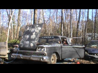 1959 Ford Ranchero Old Cold Start Part 2.
