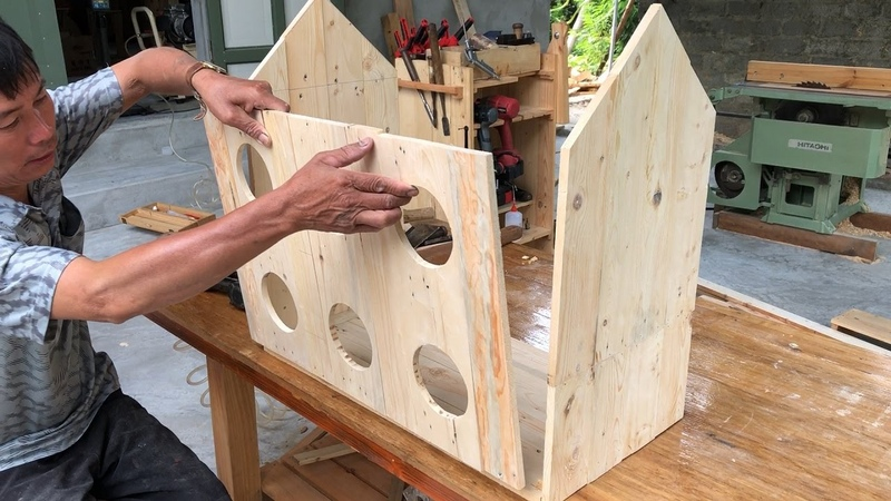 Great Ideas From Wooden Pallets How To Building An Awesome Birdhouse DIY
