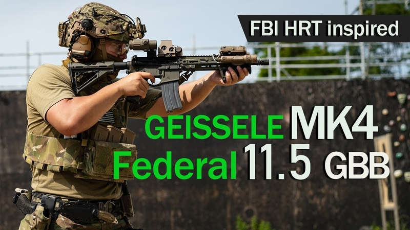 VFC airsoft 11 5 GBBR Geissele Mk4 Fed HRT Inspired Eotech G33 Exps3 combo
