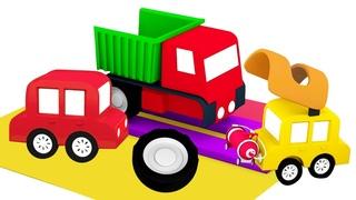 Dessin animé pour garçons sur les 4 petites voitures : Un atelier de réparation automobile