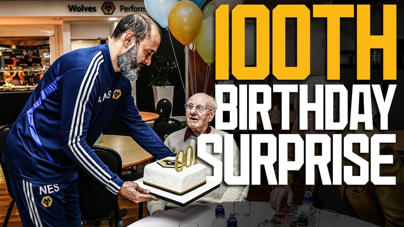 Nuno and Wolves players give Alf an amazing 100th birthday surprise