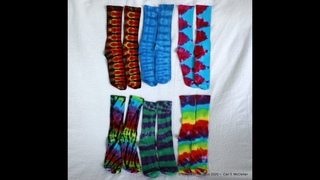 Tie Dye your Socks so you can Walk on Rainbows