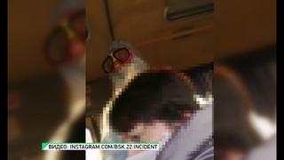 Необычная пассажирка: в бийский автобус села женщина в защитном костюме (Бийское телевидение)