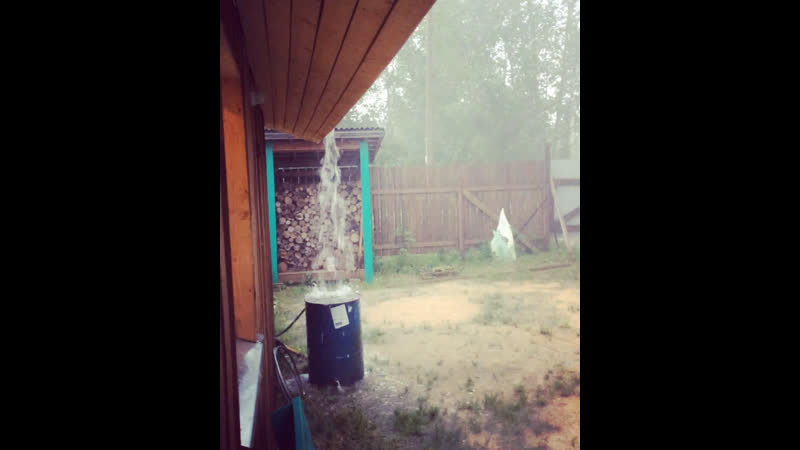 Гроза ☔️ душ 🚿 автополив и свет рубанули 😀👍