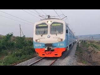 Прибытие ЭД4М-0393 Сообщением Симферополь - Севастополь.