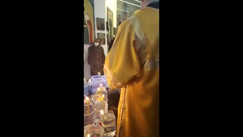 Водосвятие в Кочетовском храме Вознесения Господня 19 01 2021