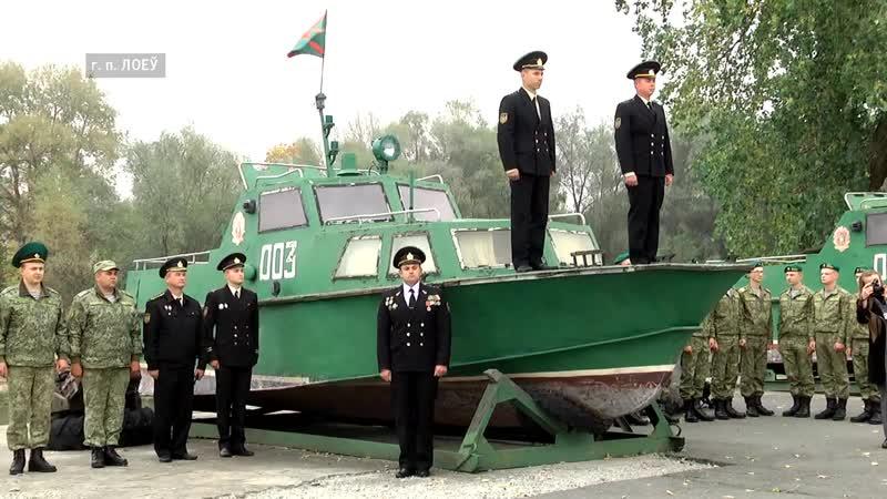 Белорусские пограничники передали катер береговой охраны Аист в музей города Гомеля