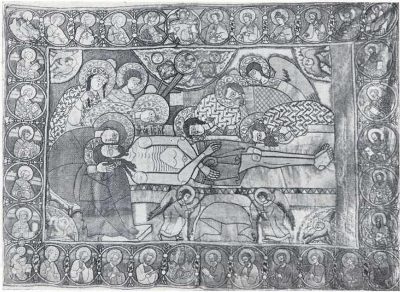 6. Плащаница Новоспасская. 1645—1647