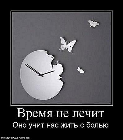 картинки время не лечит оно просто учит жить жизни