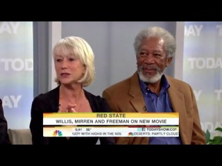 Helen Mirren, Bruce Willis and Morgan Freeman Talk about Red