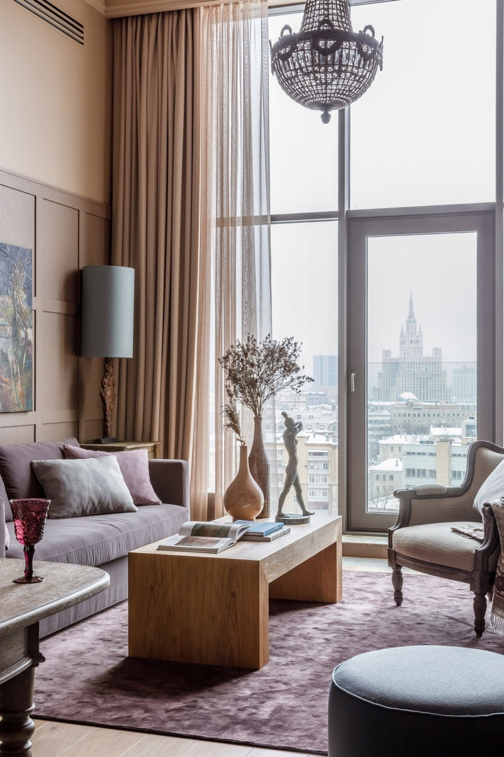 Квартира в центре Москвы, 80 м² от Ольги Иевлевой || 01