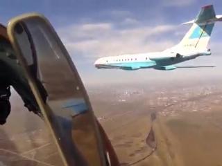 Воздушное сопровождение РК наш Н.Назарбаев