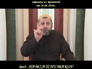 Шейх Хамзат Чумаков - отрывок из пятничной проповеди.
