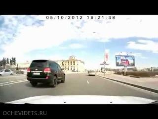 Неудачная месть на дороге.