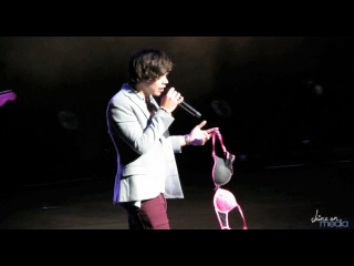 """One Direction - """"Up All Night"""" Harry Styles Catches Bra"""