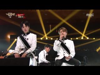[RAW|VK][] MONSTA X - VCR + Beautiful (with MONBEBE band) + DRAMARAMA (remix) @ MBC Gayo Daejejeon : The FAN