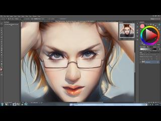 China Digital painting - Beautiful girl illustration - Artist peterxiao