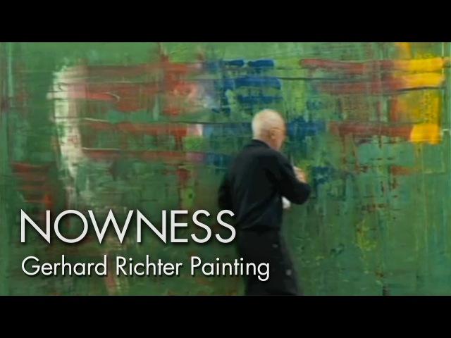 Gerhard Richter Painting watch the master artist at work
