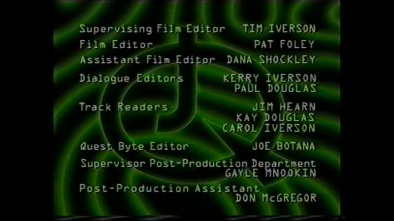 Титры мультсериала Невероятные приключения Джонни Квеста (EA, 1998)
