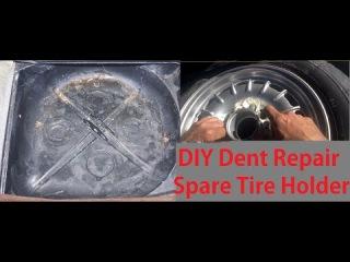 Fixing Car Dents Repair Video DIY Auto Body Spare Tire Fit Mercedes Fix