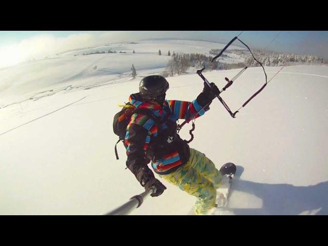 Snowkiting nejvetsi nejlepsi Krusne hory BIG DAY 26 01 2012 by Stejnaci
