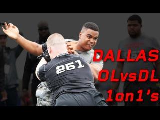 Dallas OL vs DL 1 on 1's | Nike Football The Opening Regionals