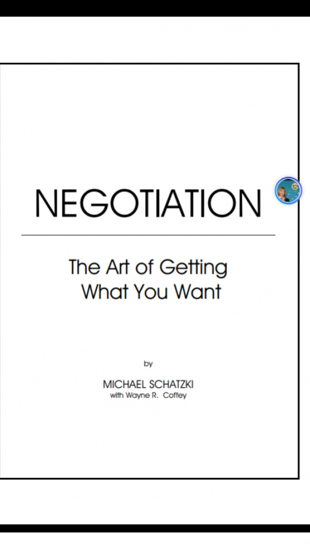 Negotiation The art of getting you want