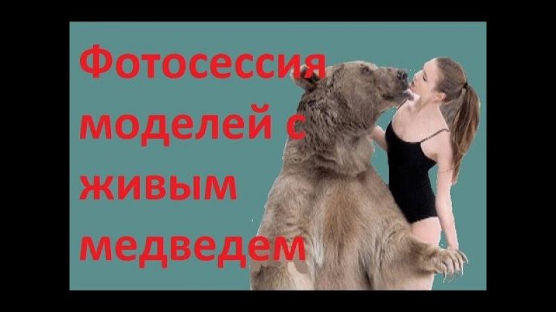 Фотосессия моделей с живым медведем 27 04 2015
