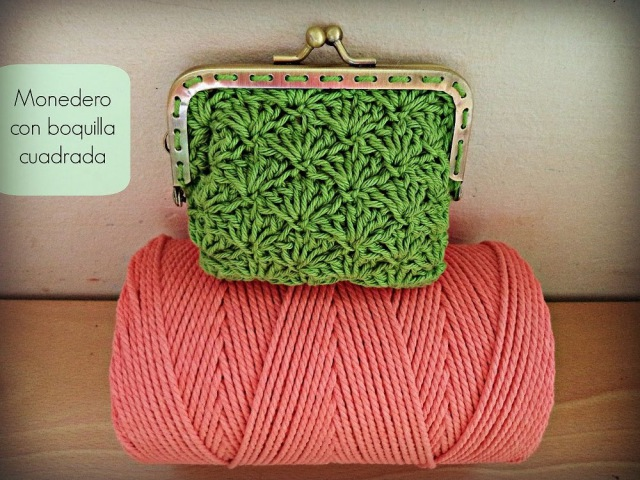 Monedero de ganchillo con boquilla cuadrada Crochet purse Tutorial
