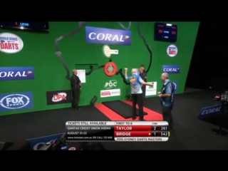Phil Taylor vs Tic Bridge (Sydney Darts Masters 2015 / Round 1)