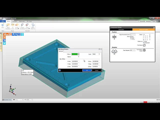 3a Edgecam TestDrive tutorial Creating stock and fixtures