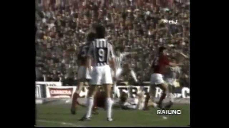 Torino Calcio-Juventus 2-1 derby ottobre 1983 Zaccarelli Boniek Platini Dossena Cabrini