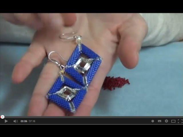 Realizzare orecchini a rombo con le Miyuki Delica 11 0 e Swarovski Elements
