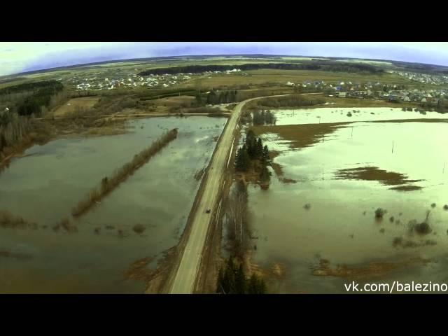 Балезино. Буринский мост. Съёмка с воздуха. 22.04.16
