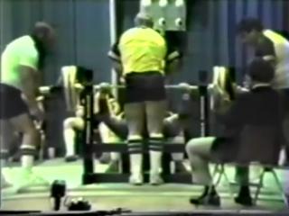 Telford Hagan ( США), жим лёжа без экипировки - 272.5 кг, USPF - 1984 год!