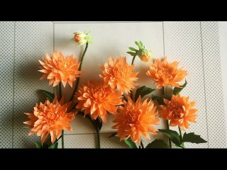 ABC TV | How To Make Dahlia Paper Flower From Crepe Paper - Craft Tutorial