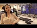 Девушка трейдер торгует акциями NYSE