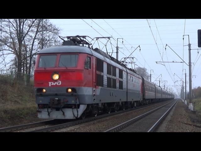 Электровоз ЧС6-020 с поездом №091 (Мурманск - Москва)
