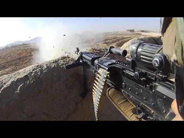 Bullets Whiz Close Over M240B Gunner