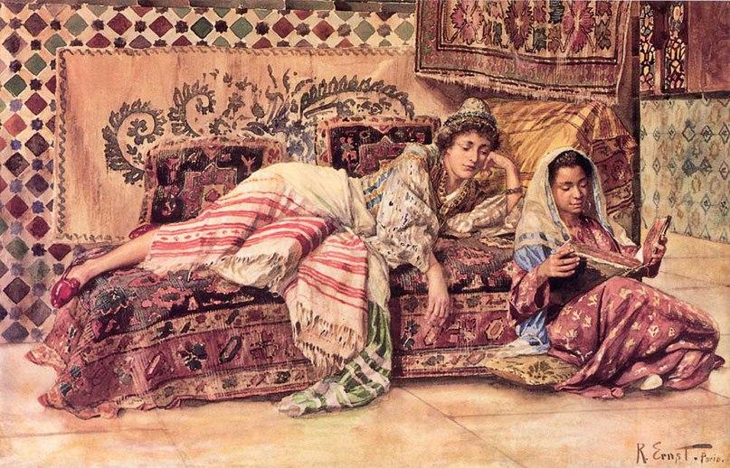 """Rudolph Ernst (1854-1932), """"Читающая"""" (""""The Reader"""")"""