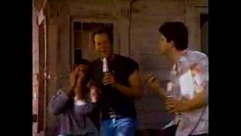 Bruce Willis Seagrams Commercial (Singing on Porch)
