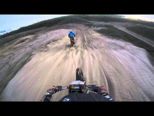 1 PitbikeSPB Pitbike training 4 riders Maximov55 and Grishin32 Prisma Trek 07 05 16