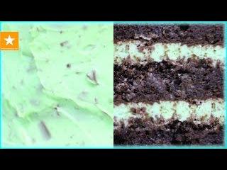 ШОКОЛАДНЫЙ ТОРТ С МЯТНЫМ КРЕМОМ  Рецепт торта без яиц от Мармеладной Лисицы