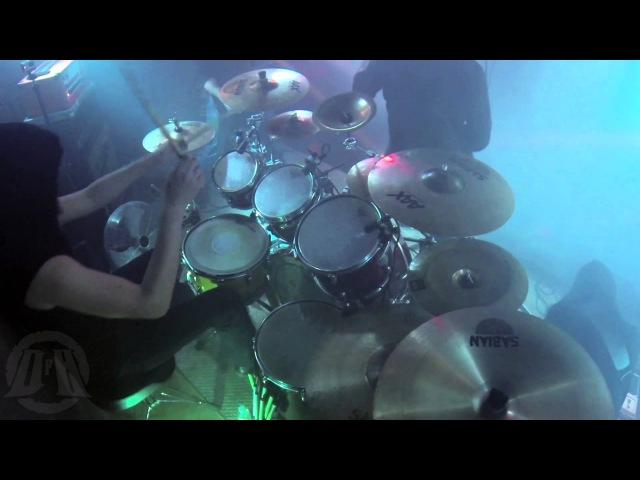 MORD'A'STIGMATA@Inkaust DQ live in Poland 2015 Drum Cam