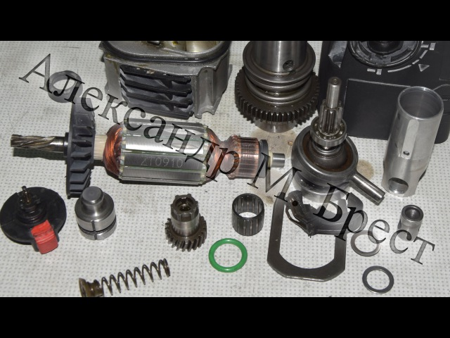 Как починить перфоратор Ремонт перфоратора how to repair electric tools Обслуживание и ремонт