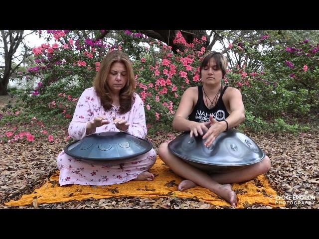 Rav Drum D Major and Aura Hand Pan Kurd 8 Jam