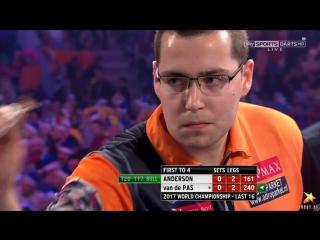 Gary Anderson vs Benito Van de Pas (PDC World Darts Championship 2017 / Round 3)